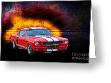 Red 1966 Mustang Fastback Greeting Card