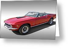 Red 1970 Mach 1 Mustang 351 Cleveland Greeting Card