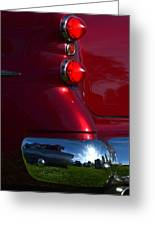 Red 50's Classic Tail Light Greeting Card