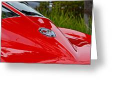 Red 63 Vette Greeting Card
