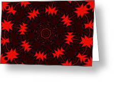 Red Abstract 031211 Greeting Card