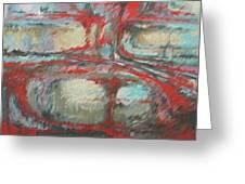Red Abstract Greeting Card by Linda Eades Blackburn