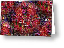 Red Abstraction Greeting Card