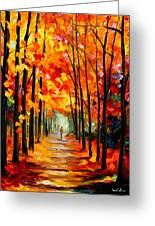 Red Alley Greeting Card