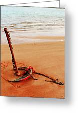 Red Anchor Greeting Card
