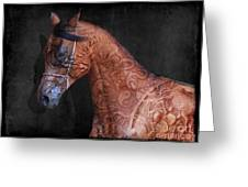 Red Ancient Horse No 01 Greeting Card
