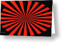 Red And Black Abstract #3 Greeting Card