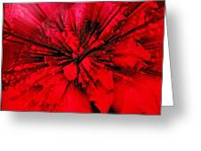 Red And Black Explosion Greeting Card