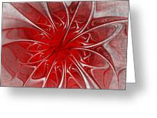 Red And Black  -f D- Greeting Card