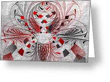 Red And Black -f E- Greeting Card