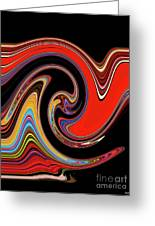 Red And Black Stream  Greeting Card