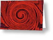 Red And Black Swirl - Modern/contemporary Painting Greeting Card