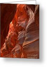 Red And Brown Swirling Sandstone Greeting Card