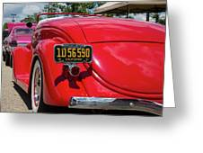 Red And Chrome Greeting Card