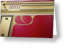 Red And Gold Gun  Greeting Card