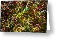 Red And Green Half Circle Lights Abstract Greeting Card