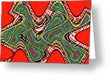 Red And Green Thing Greeting Card