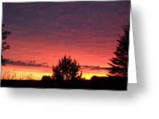 Red And Orange June Dawn Sky Greeting Card