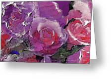 Red And Violet Roses Greeting Card