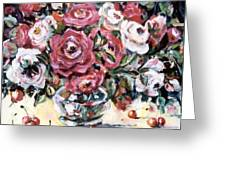Red And White Roses II Greeting Card