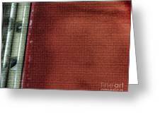 Red And White Stripe Greeting Card