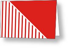 Red And White Triangles Greeting Card