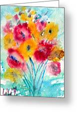 Red And Yellow Flowers Greeting Card