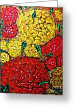 Red And Yellow Garden Greeting Card