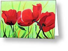 Red Anemonies Greeting Card