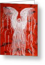 Red Angel Greeting Card