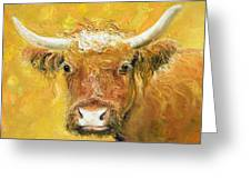 Red Angus Cow Greeting Card