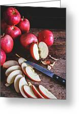 Red Apple Slices Greeting Card