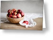 Red Apples Still Life Greeting Card