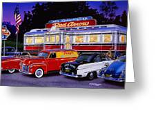 Red Arrow Diner Greeting Card