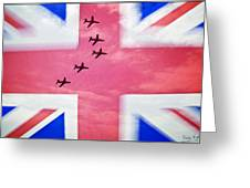 Red Arrows Flag Greeting Card