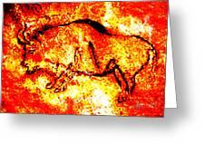 Red Auroch Greeting Card