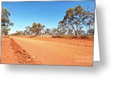 Red Australia Greeting Card