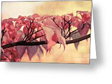 Red Autumn Day Greeting Card