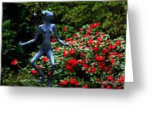 Red Azalea Lady Greeting Card
