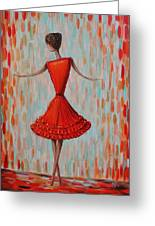 Red Ballerina Greeting Card