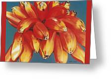 Red Bananas Of Jocotepec Greeting Card