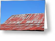 Red Barn And Blue Sky- Fine Art Greeting Card