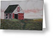 Red Barn Greeting Card