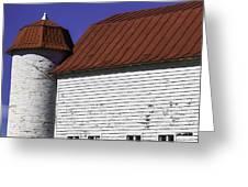 Red Barn Close Up Greeting Card
