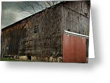 Red Barn Doors Greeting Card by Stephanie Calhoun