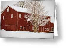 Red Barn IIi Greeting Card by Tim  Fitzwater