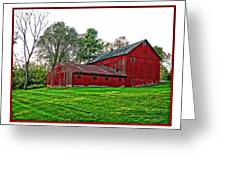 Red Barn In Ohio Greeting Card