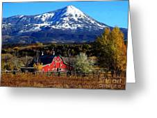 Red Barn In Paonia Colorado Greeting Card
