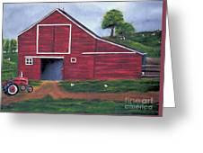 Red Barn In South Dakota Greeting Card