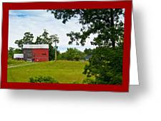 Red Barn In Upper  New York State. Greeting Card
